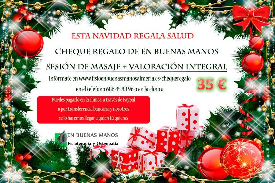 Cheques regalo masajes navidad