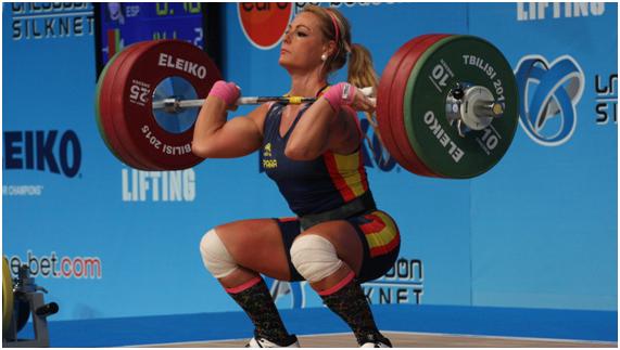 (Lidia Valentín, medalla de bronce en Río 2016, dos veces campeona de Europa y bronce en el mundial de Halterofilia)