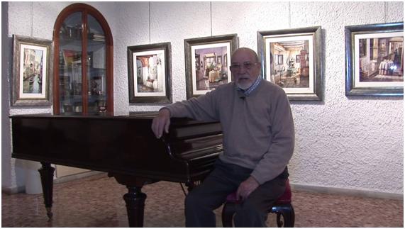 (Julio Visconti, acuarelista almeriense. 94 años)